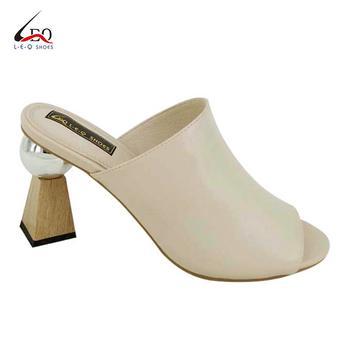 Beautiful Elegant Sexy Open Toes High Heel Ladies Slipper Women's Fashion High Heel Slipper Funky Heel Slippers