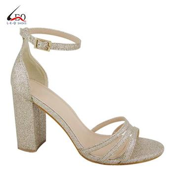 Classic And Pearlescent Heels Women High Heel Ladies Shoes And Cover Back Sandals Young Girl's Fashion Sandal
