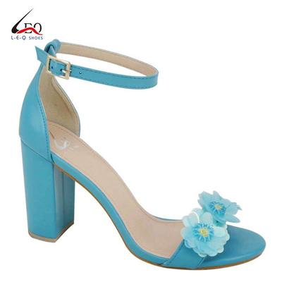 High Heel Sandals With Beauty Flowers For Women And Young Girls Fashion High Heel Block Heel Sandals Popular Heel Sandals For Ladies