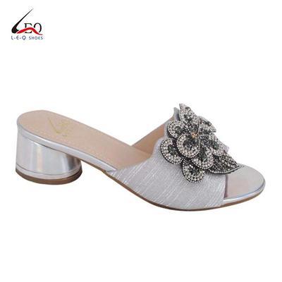 2020 New Design Handmade Diamond Decoration  High Heel Slippers For Women Summer Sexy Latest Fashion Diamond  High Quality Women Heels Slipper