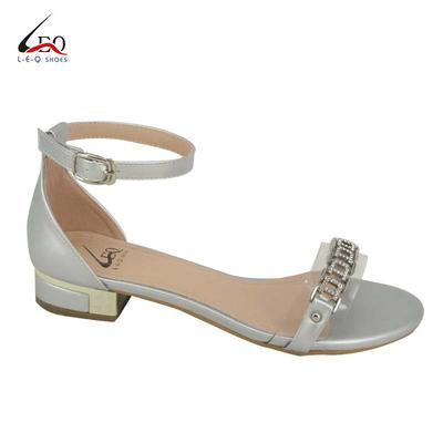 Popular Fashion Sandals With Flat Heels For Girls Most Fashionable Women's Flat Sandals  Ladies Crystal Upper Sandals Low Heel Women's Flat Heel Fashion Elegant Style Shoes For 2020