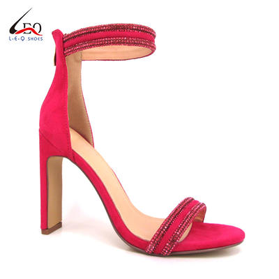 Hot Selling High Heel Cover Back Women Shoes With Diamonds