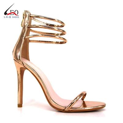 Women's Dress Shoes Ankle Strap Stiletto High Heels Sandals