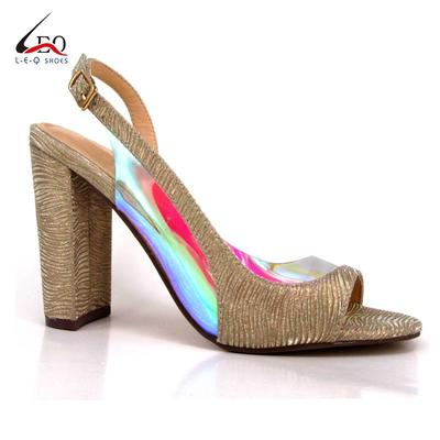 China Lady Shoes TPU Transparent Classic Sexy High Heel Sandals